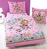 Prinzessin Lillifee Kinder-Bettwäsche mit Schmetterlinge / Butterfly 135 x 200 cm + 80 x 80 cm 100%...