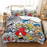Donald Duck Kinderbettwäsche 135x200,3D Druck Donald Duck Bettwäsche Set,für Teen Jungen Und...