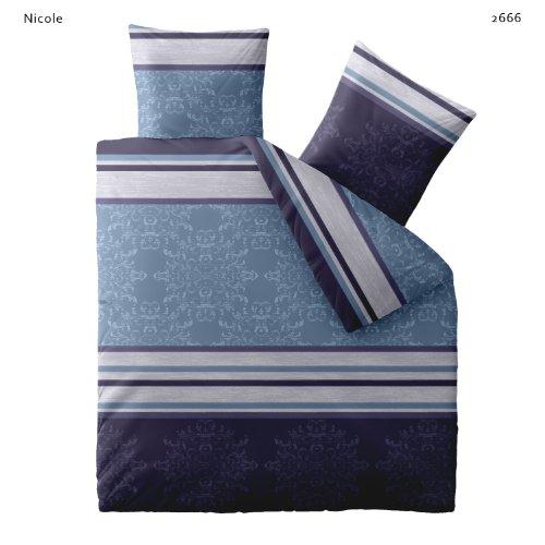 bettw sche 200x200 baumwolle mit rei verschluss fashion nicole blau lila der bettw sche ratgeber. Black Bedroom Furniture Sets. Home Design Ideas