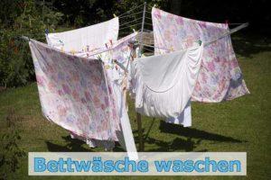 Kleine Waschkunde - Bettwäsche waschen aber richtig Bild Wäsche auf der Leine
